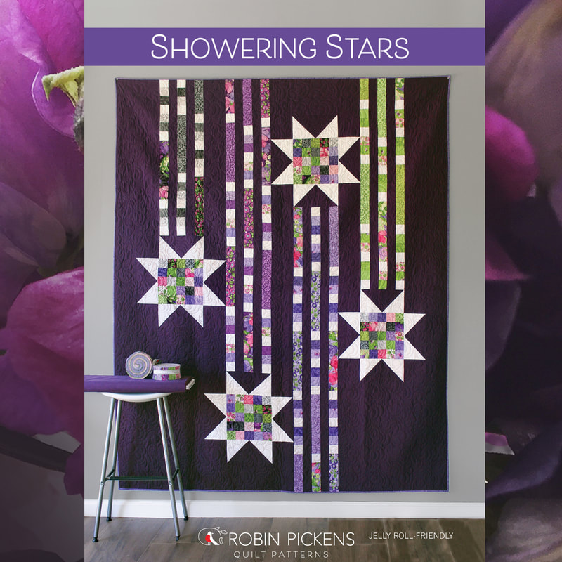 Quilt Now Showering Stars Quilt Pattern - Robin Pickens