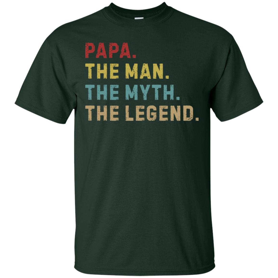 Gildan Pullover Sweatshirt Size Chart Papa The Man The Myth The Legend T Shirt Ls Hoodie