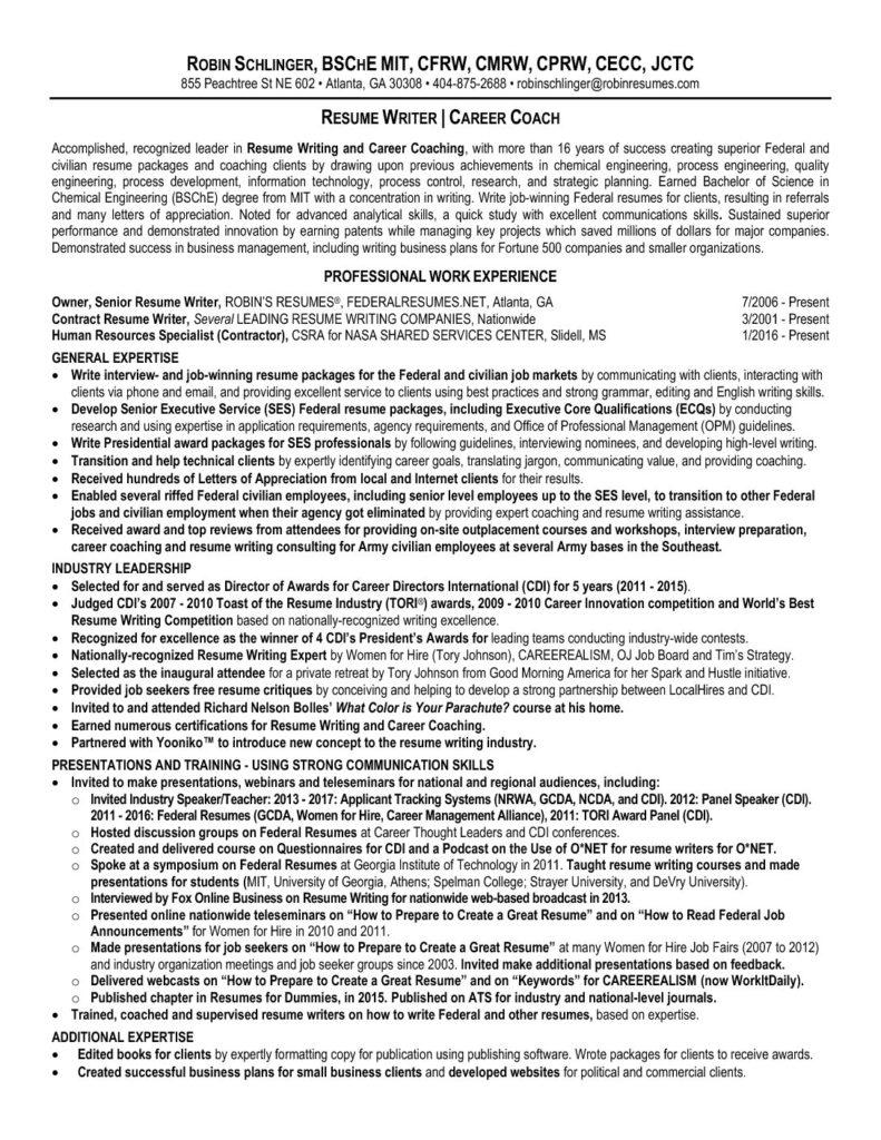 robin schlinger resume