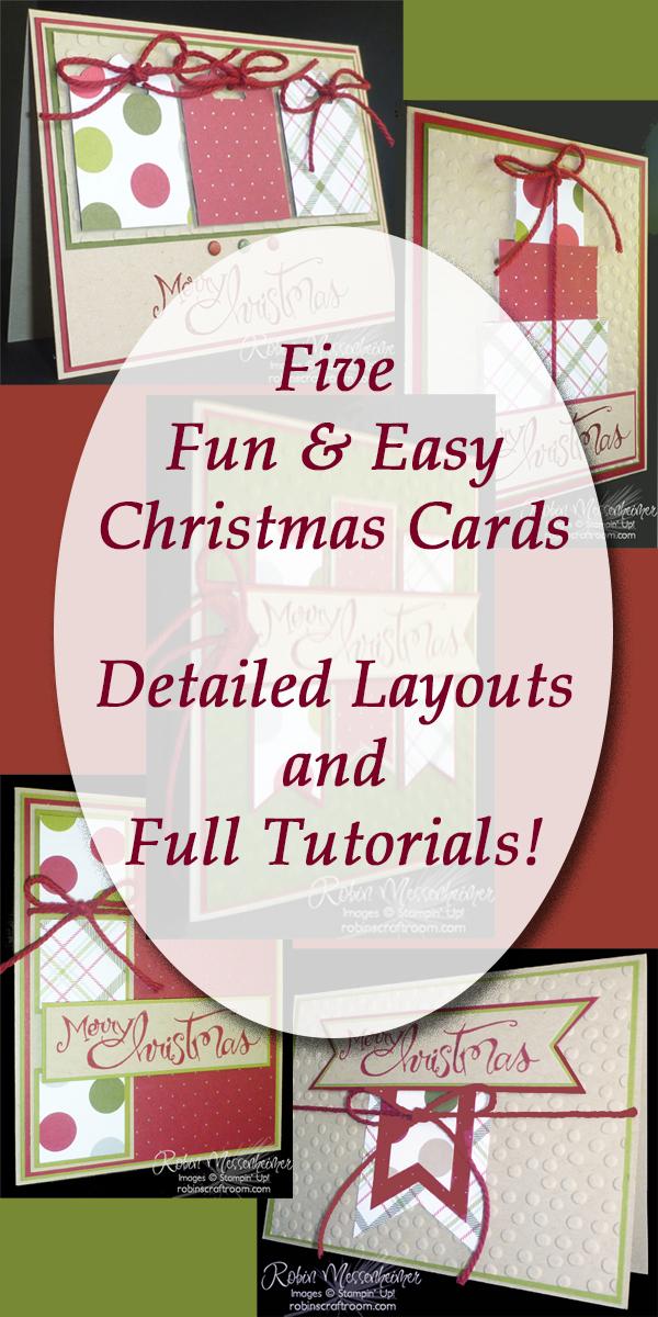 Christmas Card Tutorials - RobinsCraftRoom