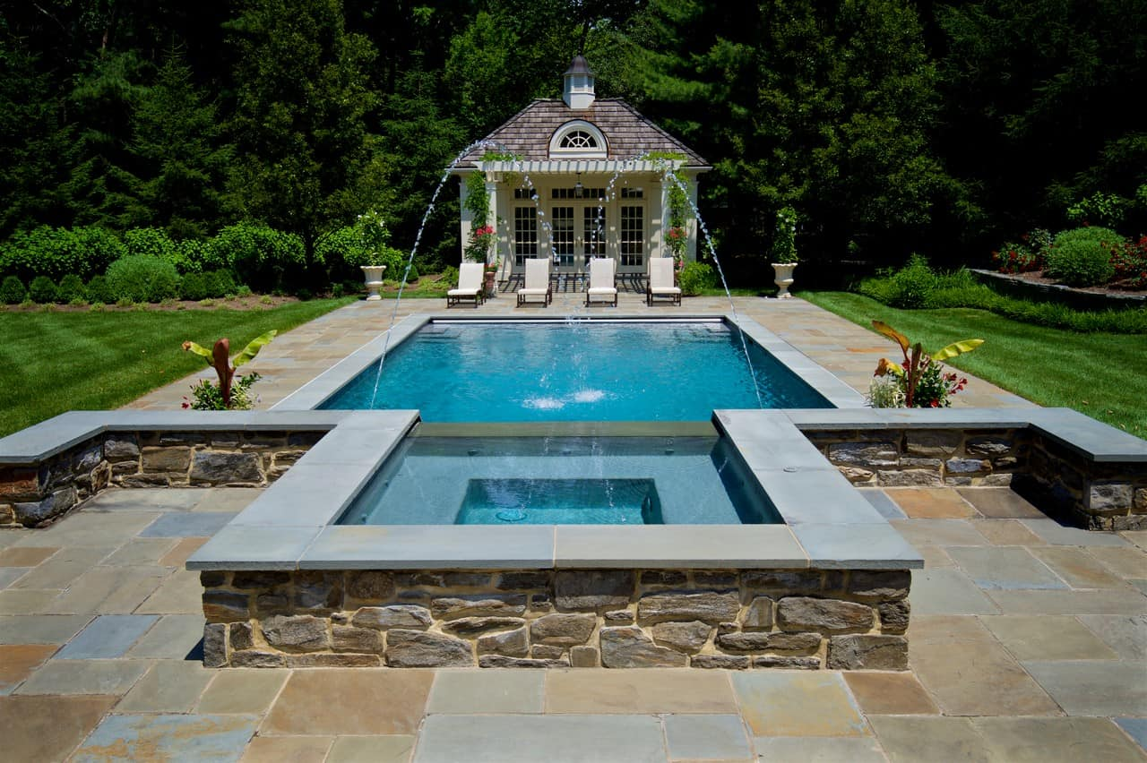 Jacuzzi Pool Top Caps Robinson Flagstone Pool And Spa Coping Robinson Flagstone