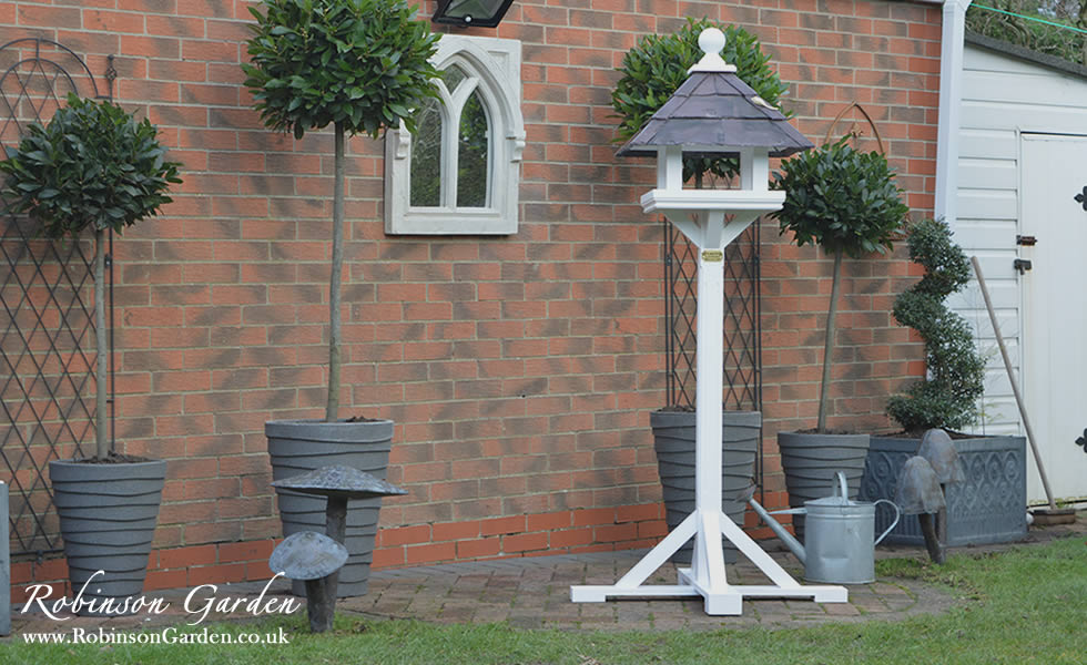 Lamp Table By Argos Robinson Garden Bespoke Bird Table And Bird Houses