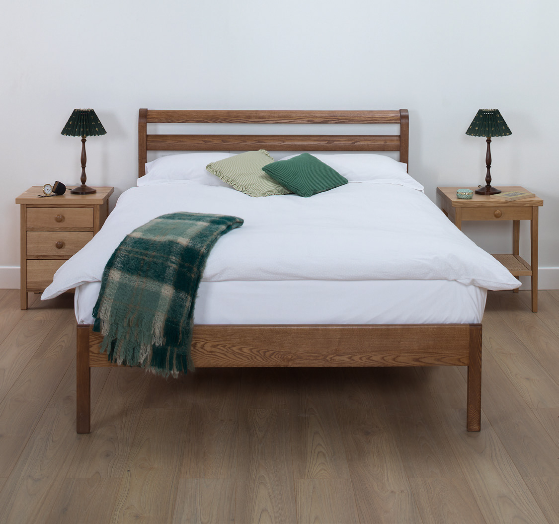 Very Low Bed Modern Cotswold Caners Bed Buy Online Robinsons Beds