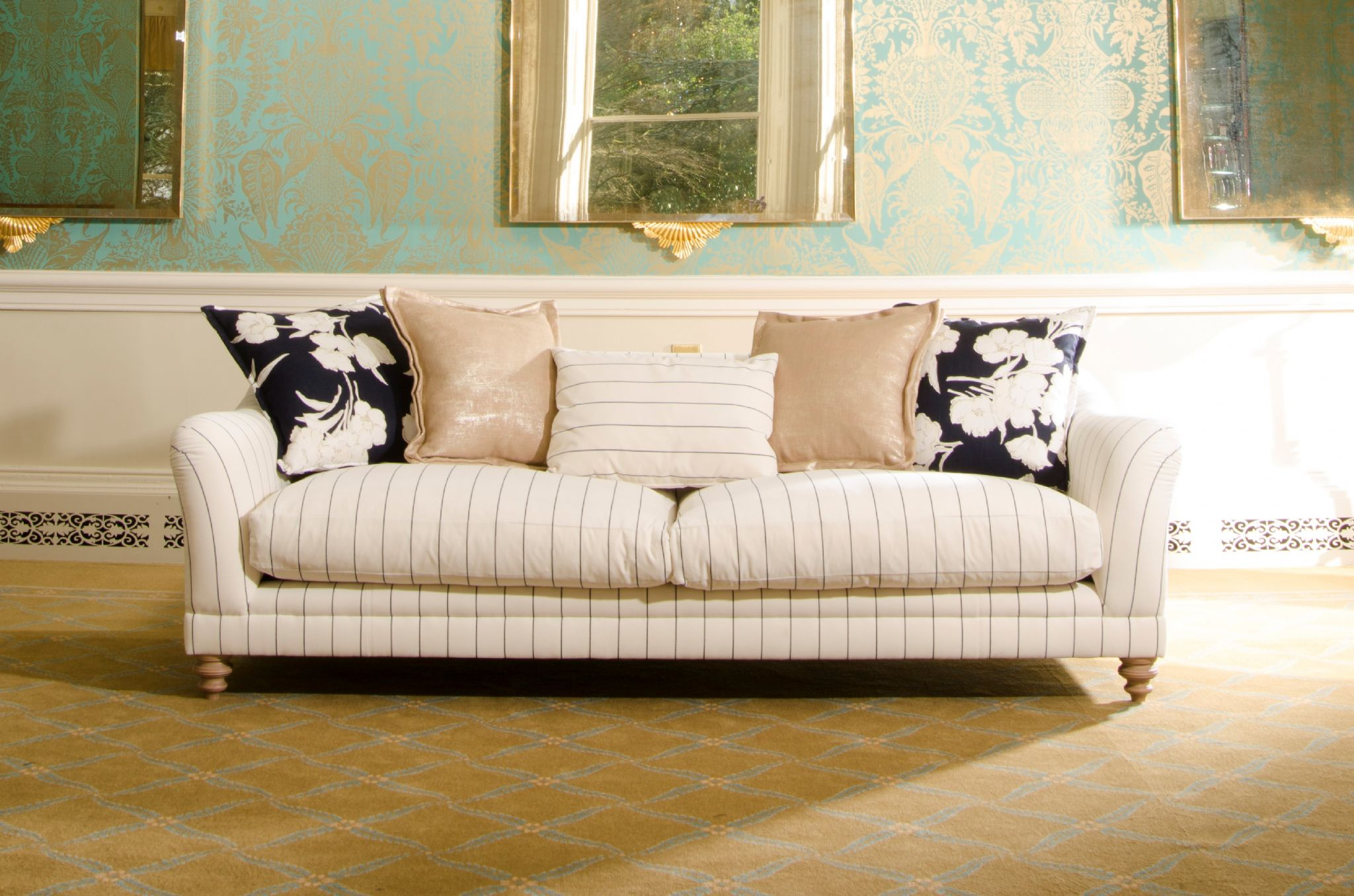 Sofas For Sale Grimsby Tetrad Gatsby Midi Sofa In Ralph Lauren Signature Fabric