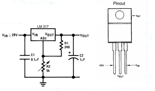 lm317t voltage regulator circuit
