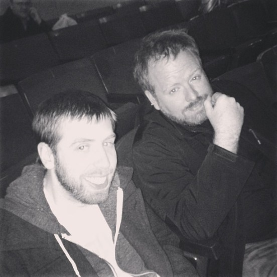 Jamison (left) and Brian getting ready to watch an incredible film.