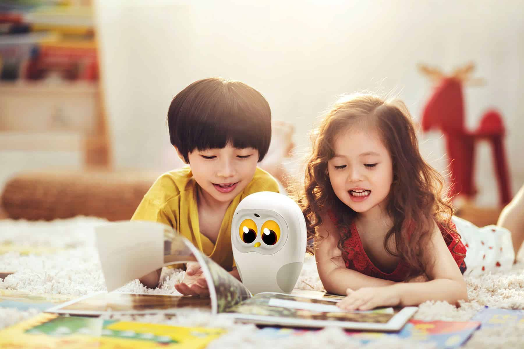 Children Robot Luka Owl Robot Teaches Children To Read Robots Champion