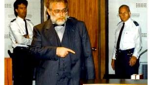 Eef Hoos voor de rechter in 1989 (foto Raymond Rutting)