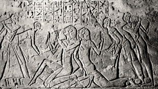 Shasu spies being beaten by Egyptians (foto Wikipedia)