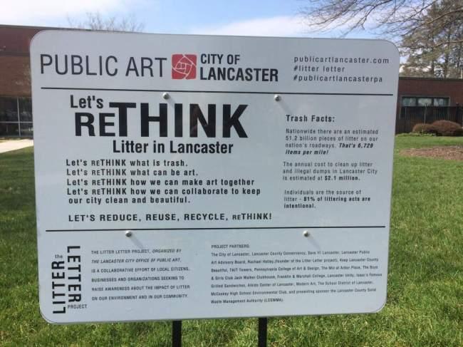 Let's rethink litter in Lancaster (foto Public Art City of Lancaster)