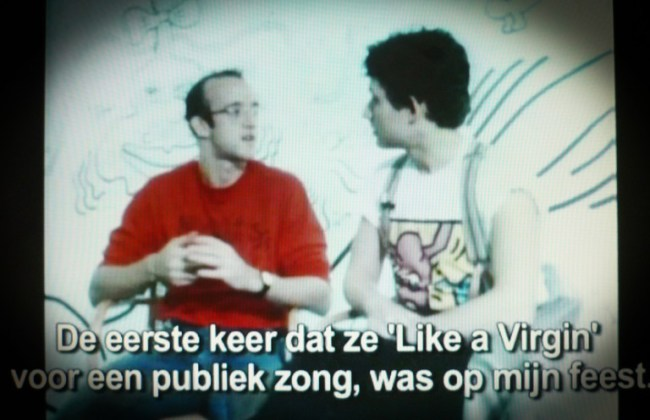 'Villa Tempo', interview by Bart Peeters, Flemish television, VRT, 21 April 1986 (foto Chris Reinewald)