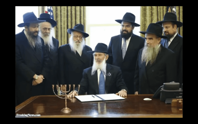 George W Bush signing the Noahide Laws (Shaking My Head Productions)