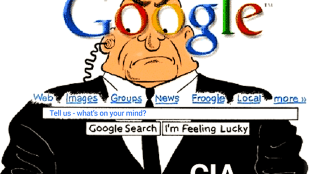 Google = CIA (foto Tom Heneghan Briefings)