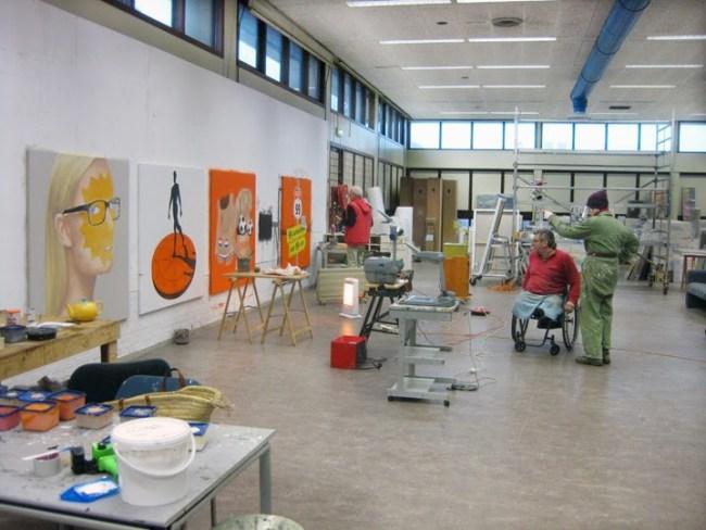 Rob Scholtes studio in Den Helder