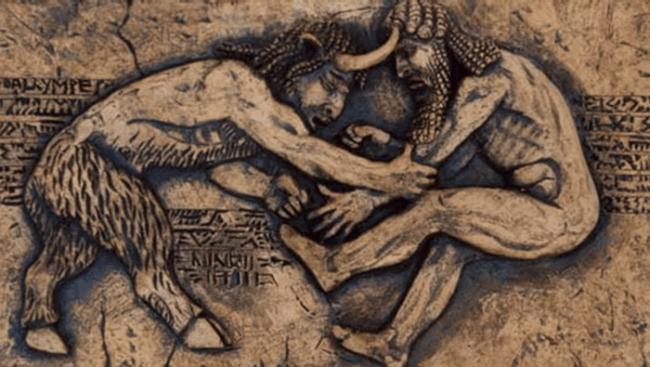 Wrestling in mythology - Gilgamesh vs. Enkidu (foto Fightland)