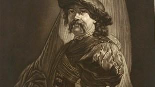 Pieter Louw - Vaandeldrager (naar Rembrandt, foto Rijksmuseum, Amsterdam)