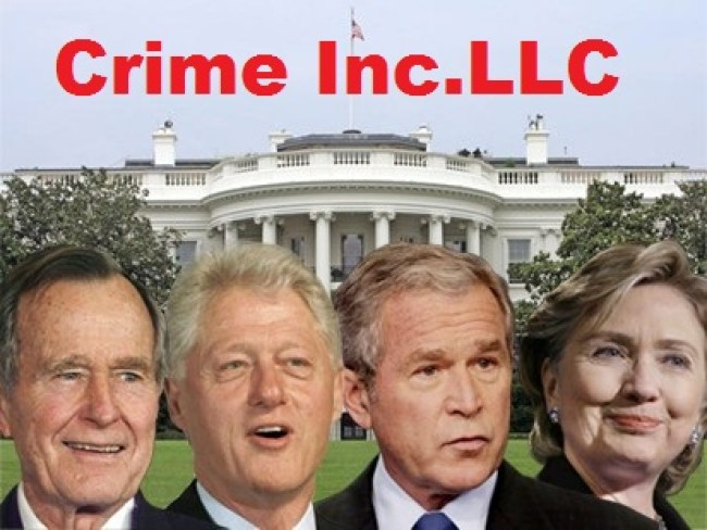Bush Clinton Crime Inc. LLC (foto Tom Heneghan)