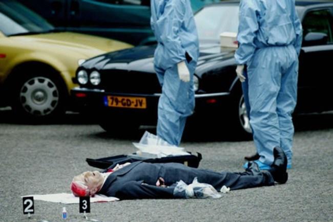 Figuur 1 de vermoorde Pim Fortuyn (foto Robin Utrecht)