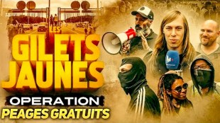 Gilets Jaunes Operation Péages Graduits (foto YouTube)