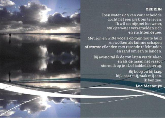 Een gedicht van Luc Mermuys, met een foto van Ilse Kootkar