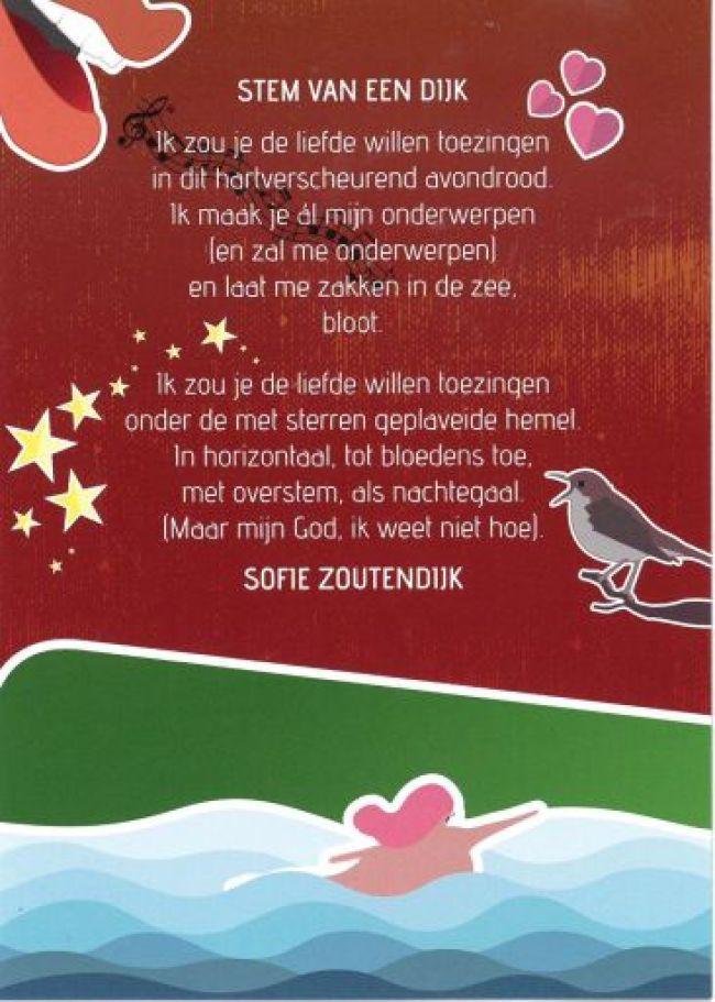 Een gedicht van Sophie Zoutendijk