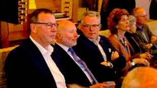 Namens het college waren burgemeester Koen Schuiling en de wethouders De Vrij, Wouters en Biersteker aanwezig (foto Cathy Niesten:LOS Den Helder)