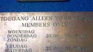 RoXY   Toegang alleen voor leden   Members only (foto Facebook)