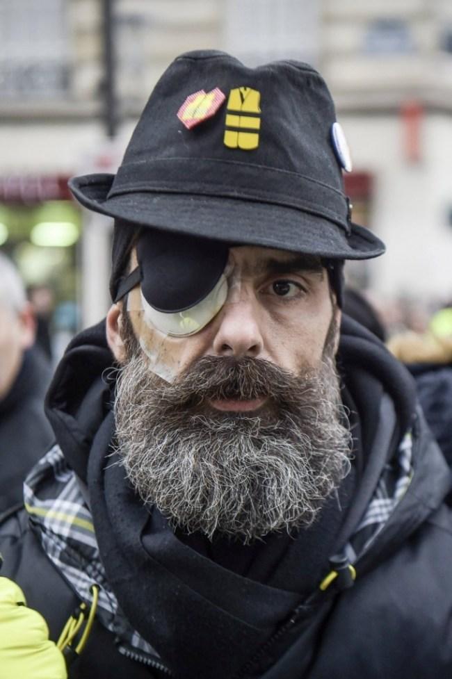 Jérôme Rodrigues, l'une des figures du mouvement des gilets jaunes (foto AFP