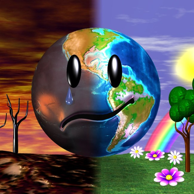 Micha Klein - Happy Earth Sad Earth, 1996 voor Wired Magazine