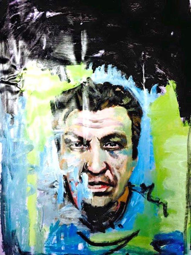 Peter Klashorst - Portret Rob Scholte (foto Facebook)