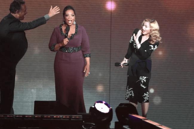 Hanks and Madonna meet at Opfray's (foto tenor)