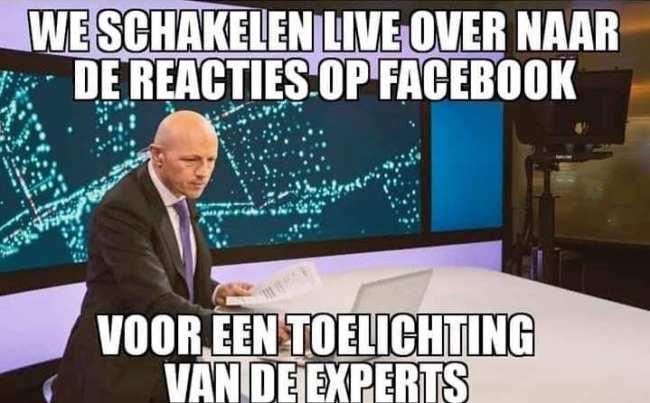 We schakelen LIVE over naar de reacties op Facebook voor een toelichting van de experts (foto Facebook)