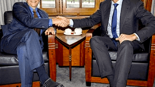 Bill Gates met Mark Rutte (foto Picabun)