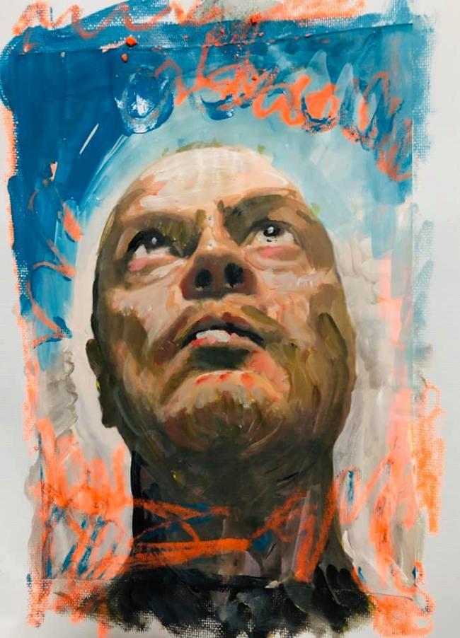 Peter Klashorst - Self portrait (3)