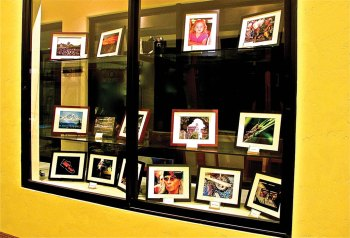 The Photography Club's display case in the CATC building