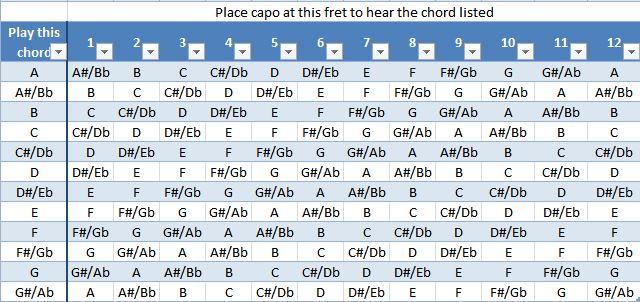 capo Guitar strings, picks and capos