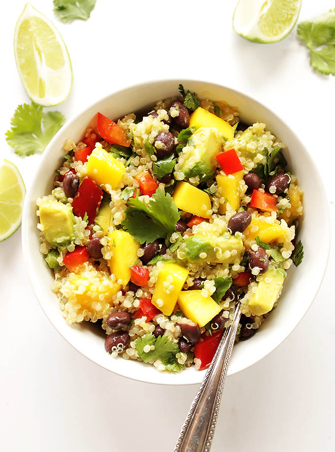 Mango Black Bean Quinoa Salad (GF + V) - Robust Recipes