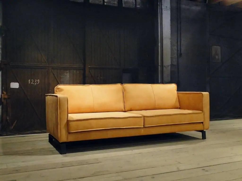 Vintage leren bank cognac vintage skippers møbler leren design