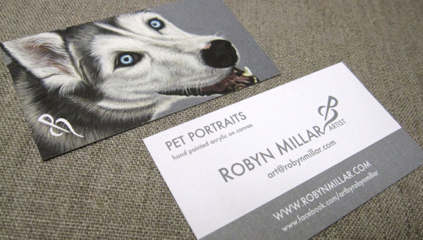 MY NEW PET PORTRAIT BUSINESS CARDS