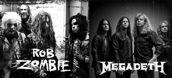 Rob Zombie and Megadeth announce 2012 co-headline tour