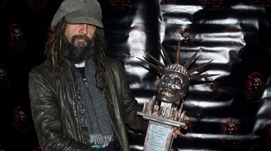 Rob Zombie accepts Directors Award at 2012 New York Horror Festival