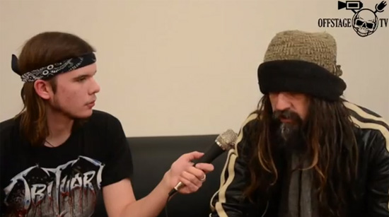 Offstage TV interviews Rob Zombie