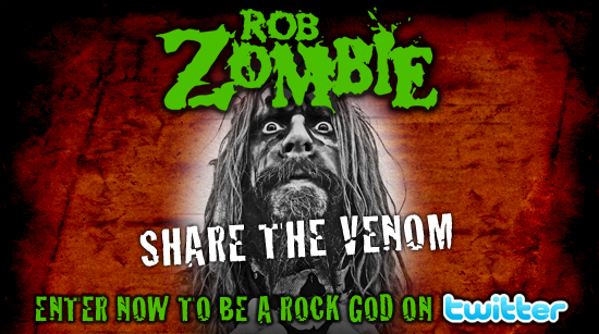 Shre the Venom sweepstake Rob Zombie