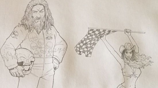 Original Pencil Art From Issue #2 of Rob Zombie's SPOOKSHOW INTERNATIONAL Comic
