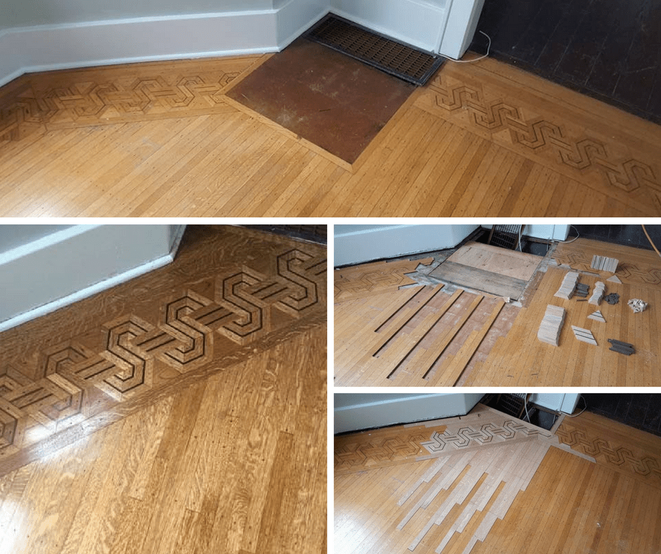 Hardwood floor for Wood floor repair