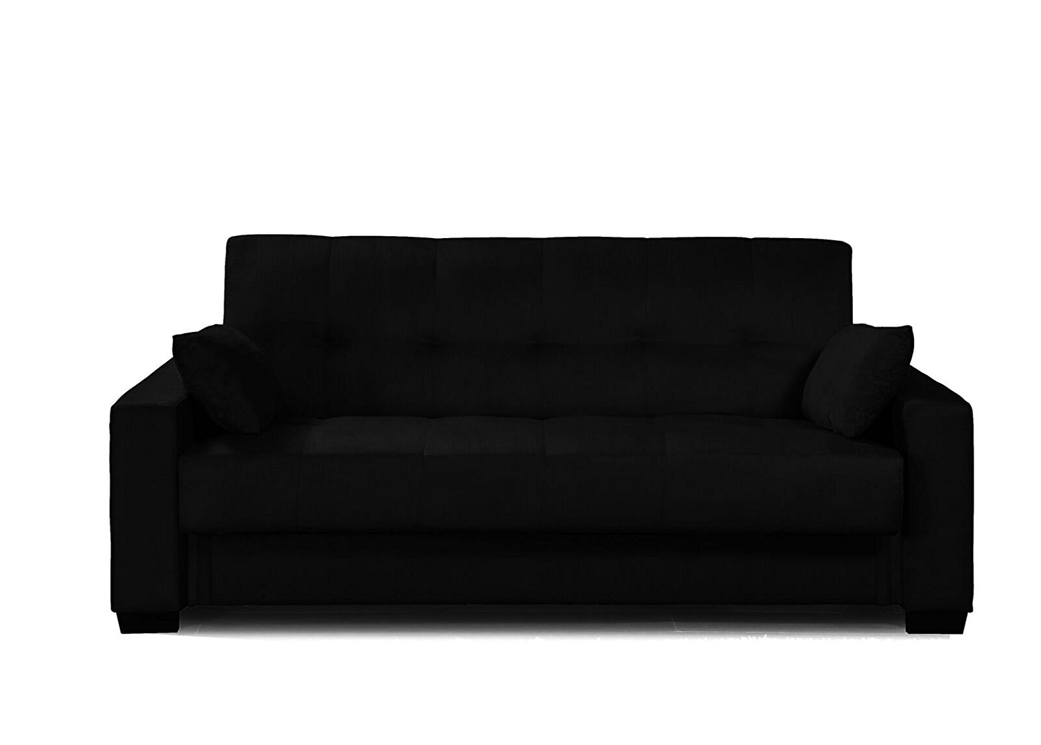 Quality Sofa For Less Microfiber Sofa Sleeper Bed And Lounger With Storage Black
