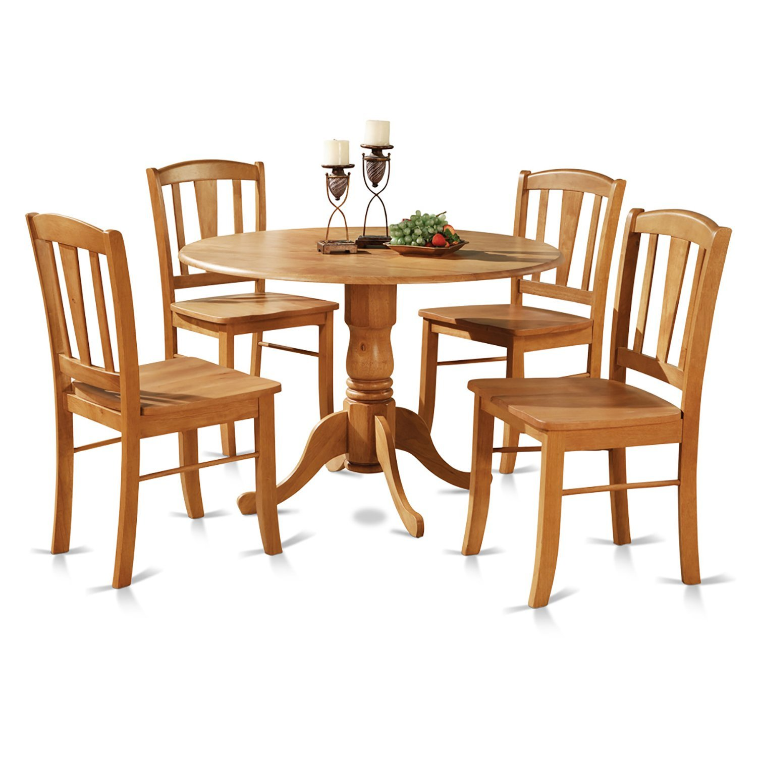 Kitchen Table Seats 10 5 Piece Round Kitchen Table And 2 Dinette Chairs Set Oak