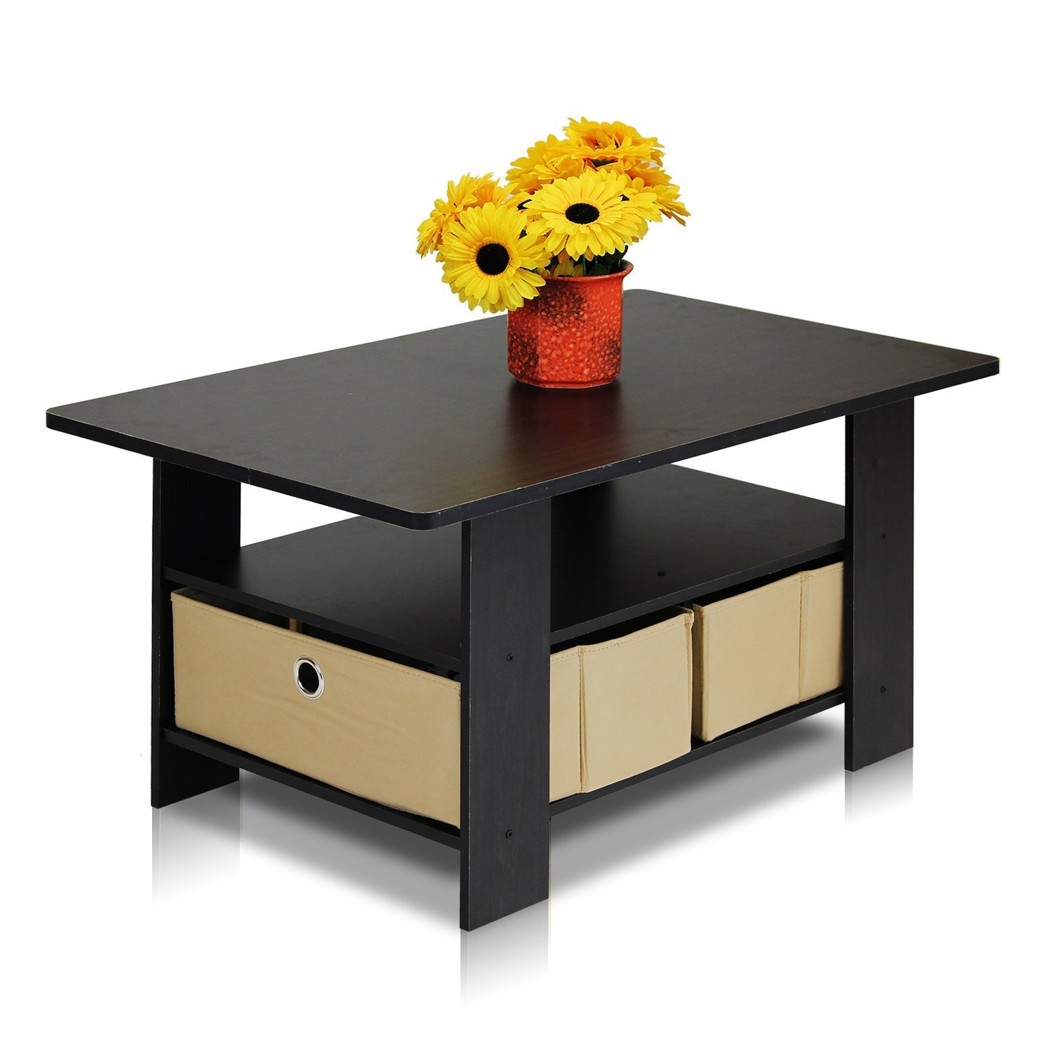 Space Saving Coffee Tables Space Saver Coffee Table With Bins Espresso Brown