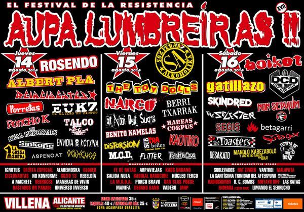 XVII AUPA LUMBREIRAS!!, EL FESTIVAL DE LA RESISTENCIA
