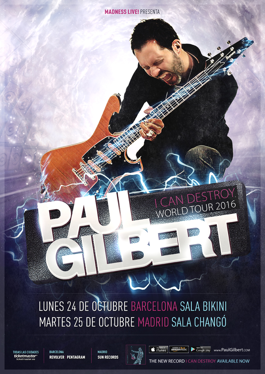 PAUL GILBERT nos visita en octubre